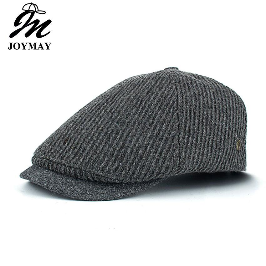 0fd3faaf7f0 2019 JOYMAY Brand New Winter Cotton Berets For Men Casual Peaked Caps Male Fashion  Hats Warm Casquette Cap Y036 From Kaylacxn