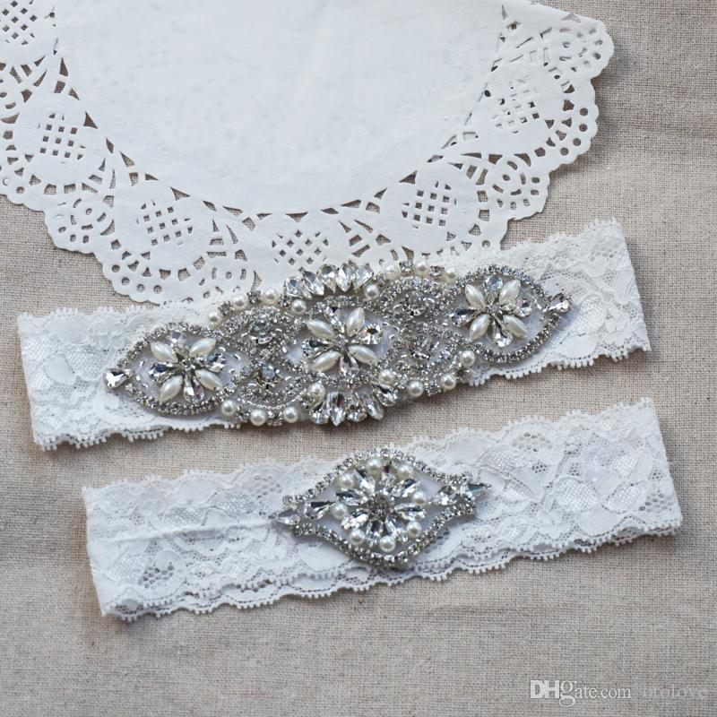 Couture Garters For Wedding: Wedding Garter Bridal Garter Ivory Couture Pearl And