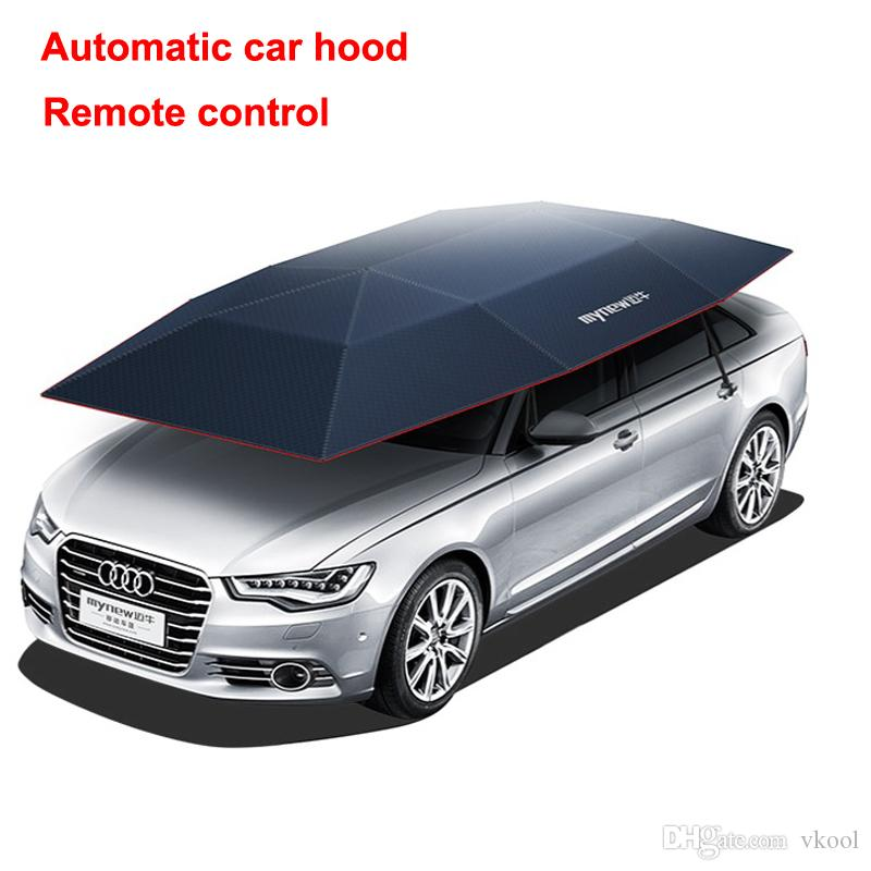 New Automatic Car Hood Sunshade Vehicle Awning Car Cover Remote