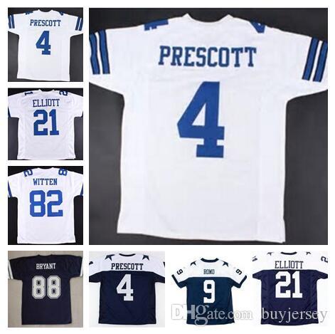 69bb0f039e8 2018 American Football Jerseys Dallas Dak Prescott Cowboys Tony Romo Sean  Lee 4xl Cheap Emmitt Smith Throwback Custom Jersey Men Women Kid Youth From  ...