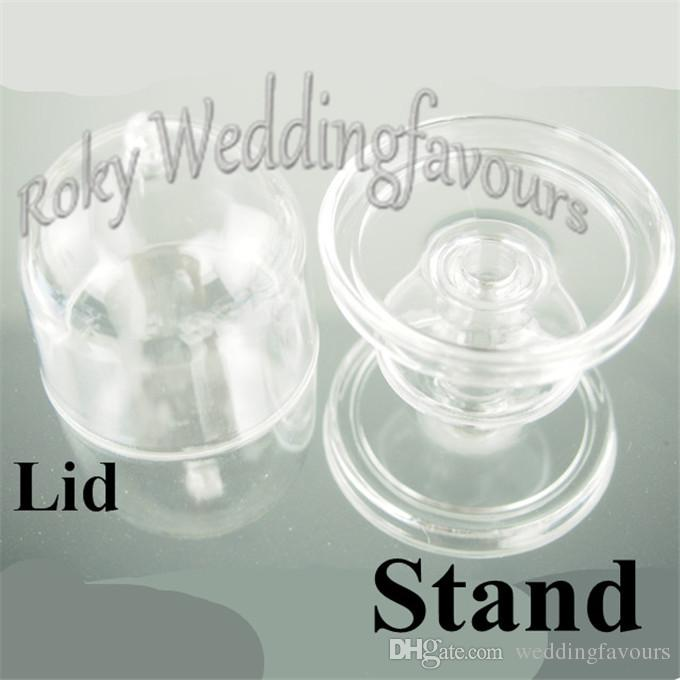 Wholesale Acrylic Clear Mini Cake Stand Baby Shower Wedding Favors Holder Birthday Party Sweet Table Decor Supplies