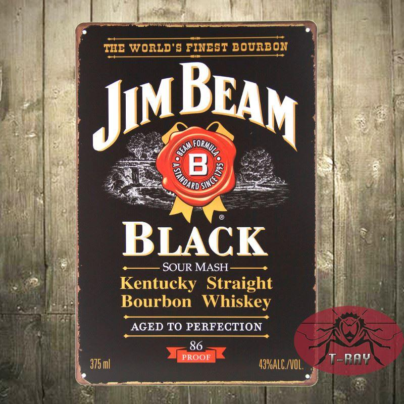 Jb Bourbon Whiskey Tavern Wall Decor Bar/Club Sign Tin Plaque ...