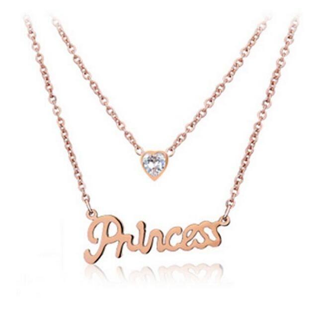 Wholesale Lady Letter Princess Necklaces Korea Style