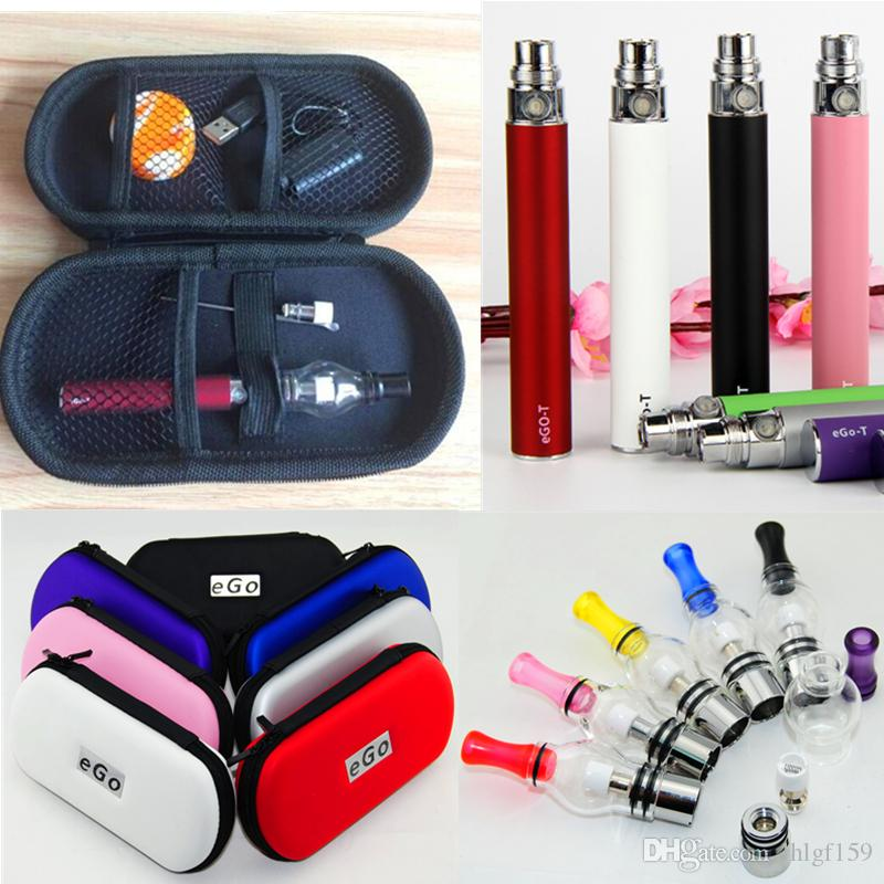 Ego T Dab Vape Pens Kit Glass globe wax vaporizer pen kit wax pen vaporizer wax oil dab bho pen with huge vapor