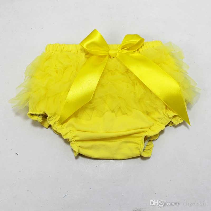 Wholesale baby ruffle shorts baby girls bloomers chiffon fashion kids tulle summer short pants girls boutique pants toddler cotton underwear