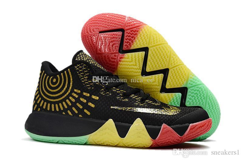 newest 15830 59c49 Cheap Kyrie Irving 4th Men Basketball Shoes 2017 Newest Release BHM Kyrie 4  Shoes Thin Mesh Sport Sneakers Sale Online Size 7 12 Mens Shoes Loafers  From ...