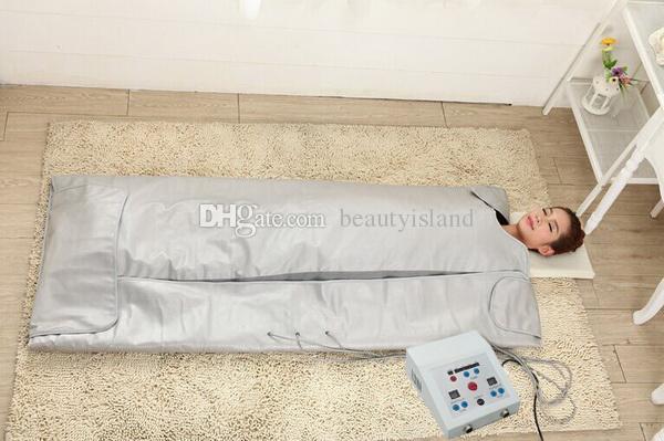 전나무 사우나 원적외선 사우나 담요 가열 치료 바디 슬리밍 가방 스파 바디 해독 체중 감소 기계 무료 배송