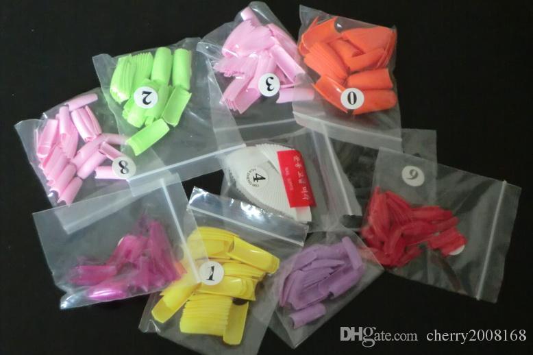 500 teile / beutel 5bags gemischt farbe natürliche französische falsche nagelspitzen acryl nagel französisch falsche tipps