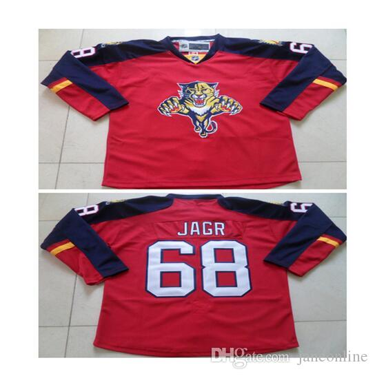 2017 100 polyester 68 jaromir jagr florida panthers red premier player  jersey high ... e467507f9