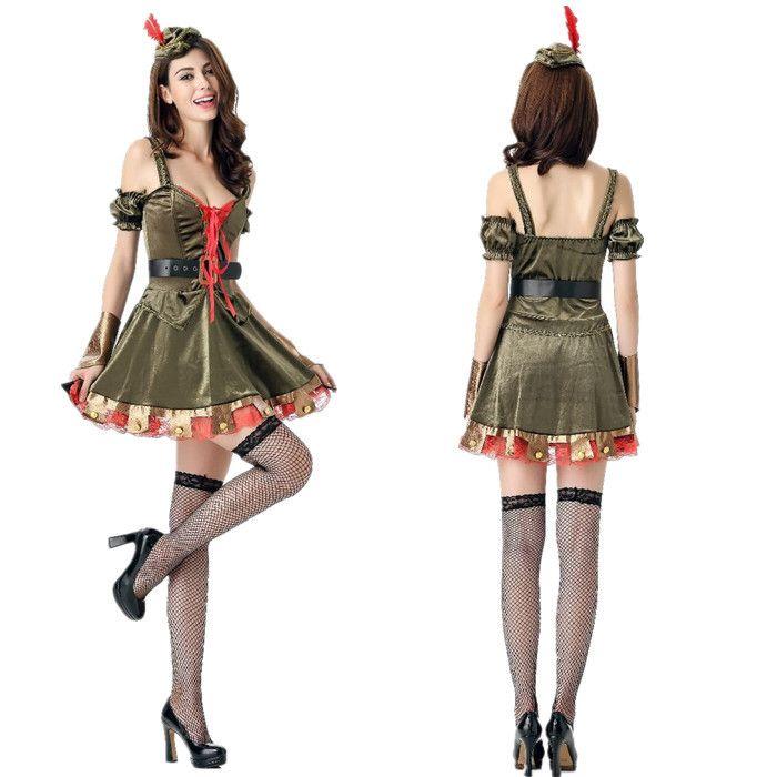 Halloween Costume Role Play Robin Hood Take Female Warrior Costume ...