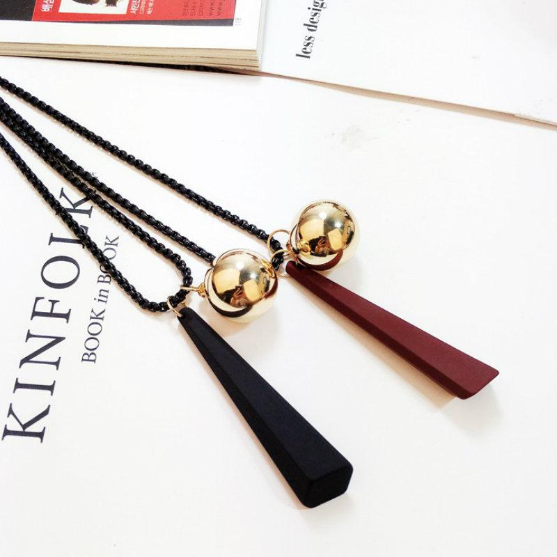 Wholesale long sweater necklace alloy ball wood pendants necklaces wholesale long sweater necklace alloy ball wood pendants necklaces for women fashion jewelry accessories 2017 new arrival heart necklace costume jewelry aloadofball Image collections