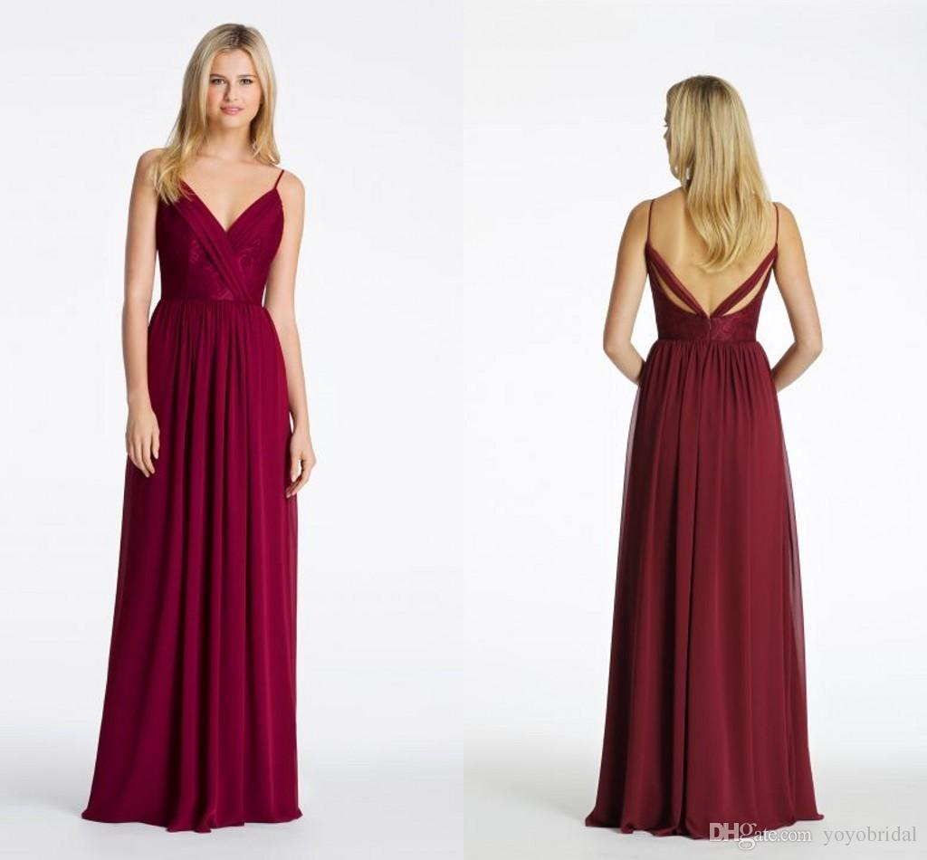 Wine red bridesmaid dresses gallery braidsmaid dress cocktail deep v neck wine red bridesmaid dresses chiffon floor length with see larger image ombrellifo gallery ombrellifo Choice Image