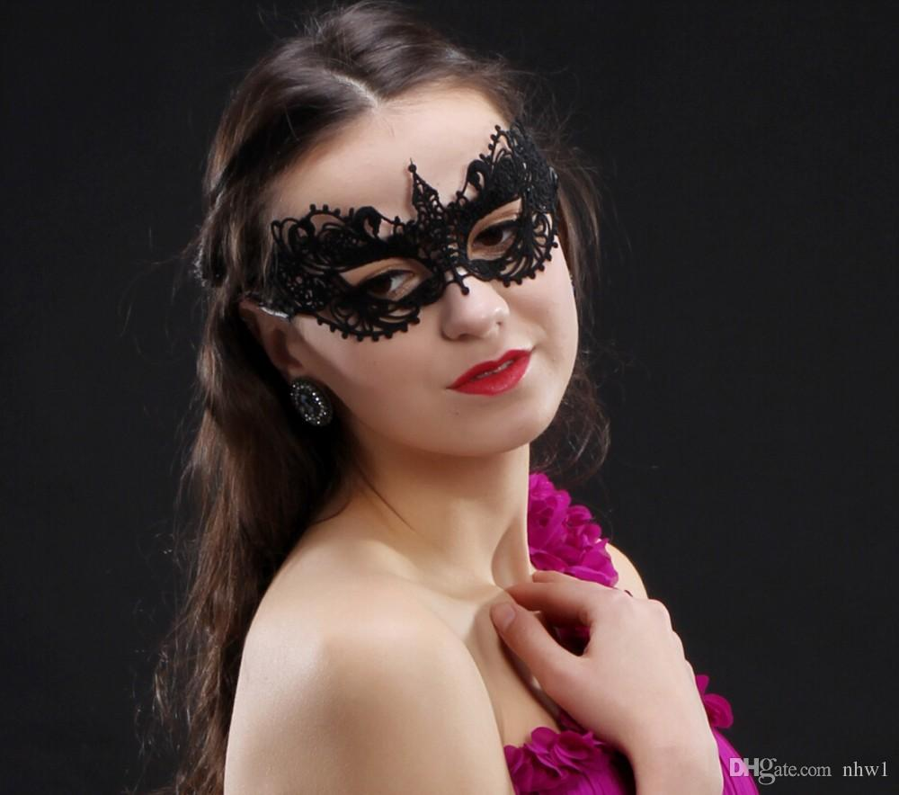 Sexy Elegant Eye Mask Masquerade Ball Carnival Fancy Party Half Face Cover Lace Masks For Halloween/Christmas Party Dress Up