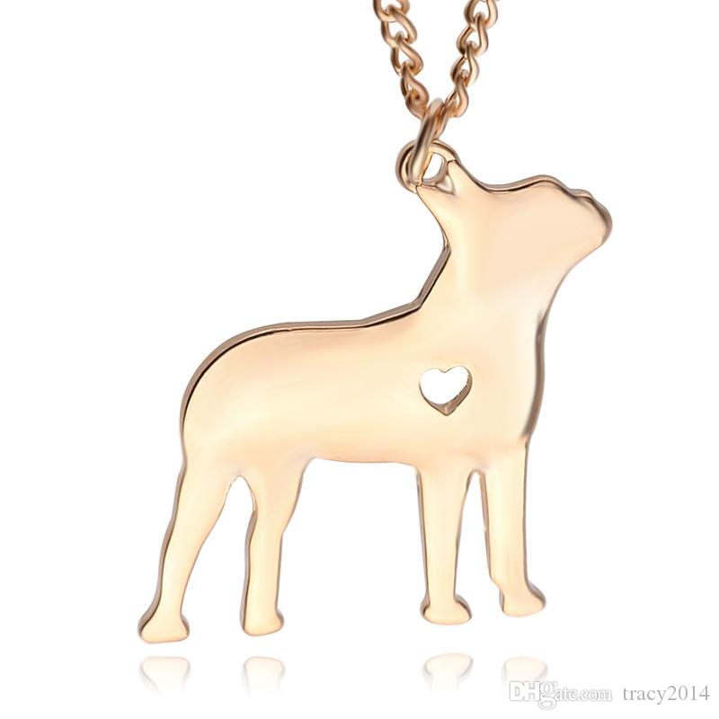 2016 American Starling dog pendant Silver gold plated Necklace Small Necklaces Pendants Women Hot Selling Handmade Animal Factory sale