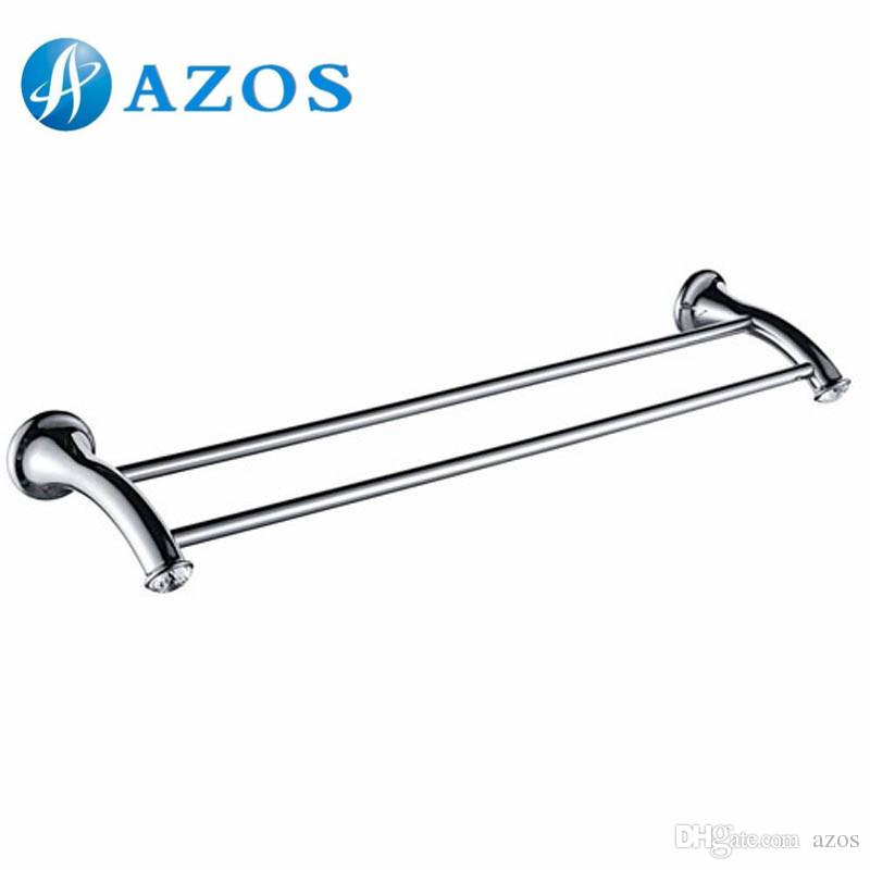 2018 Azos Wall Mounted Two Towel Bars Bathroom Accessories Toilet