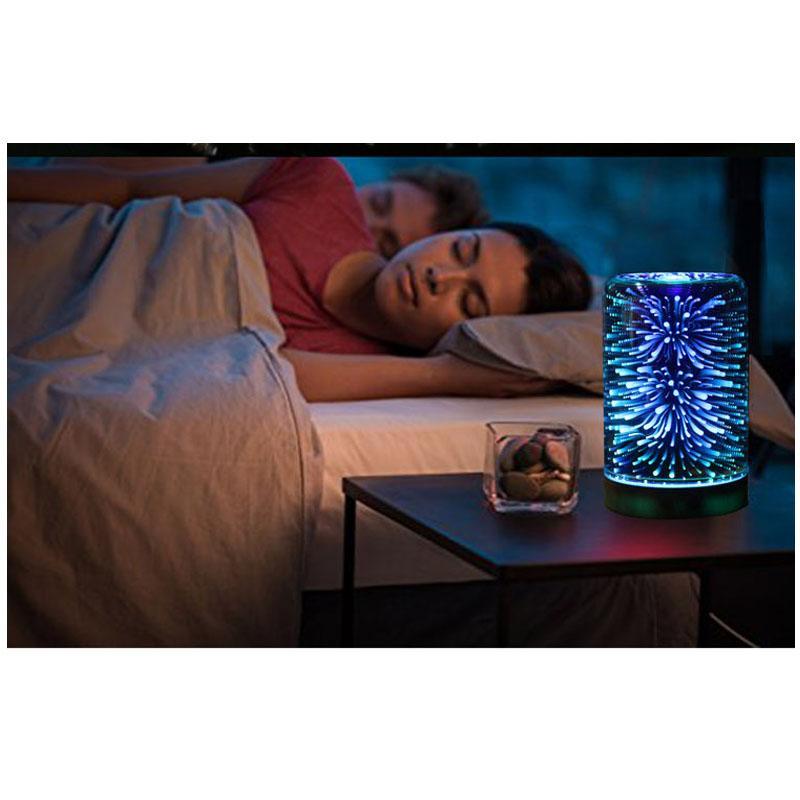 3D Aroma Umidificatore Diffusore Portatile Umidificatore Ad Ultrasuoni Diffusore Gradiente LED Fredda Nebbia Aria Fresca Spa Bellezza 100 ML Spedizione Gratuita DHL