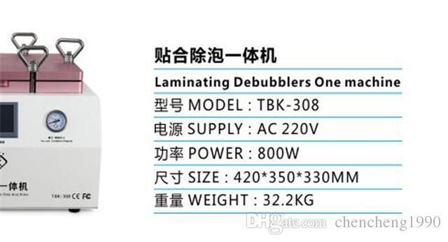 Actualización de TBK-308 15 pulgadas de pantalla táctil del teléfono móvil automático de reparación de vacío LCD OCA laminadores Debubblers máquina de burbuja de aire eliminar la máquina