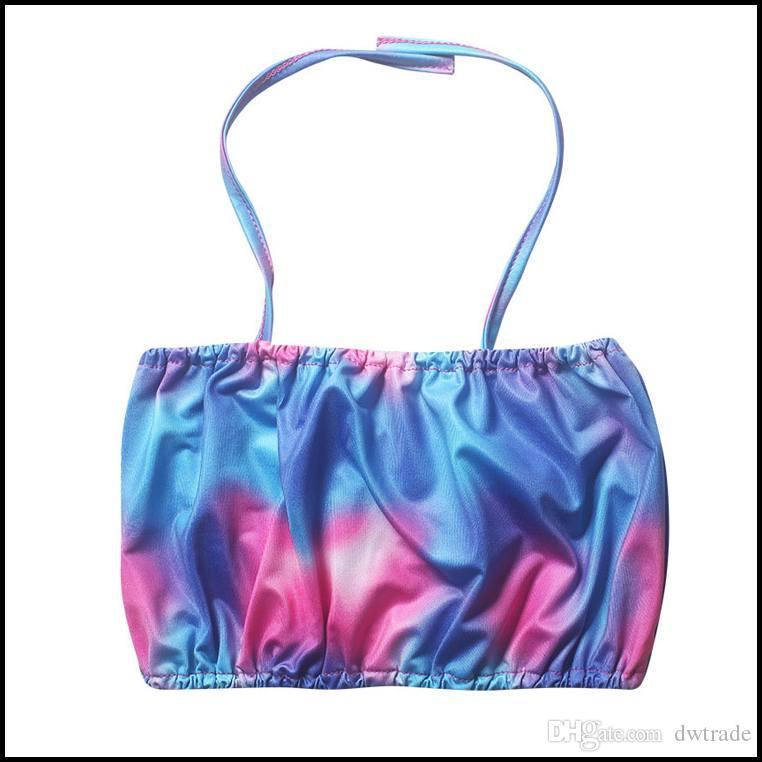 PrettyBaby Kinder Mädchen Bikini Badeanzug Bunte Sun-Top + Meerjungfrau Heck 2 Stück Set Anzüge Schwimmen Bad Tragen Kleid PT0392 #