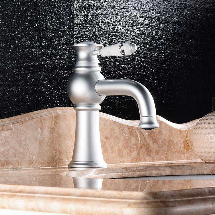 Aluminum faucet Silver high-grade faucet Hot and cold water faucet Lead free aluminum material kitchen faucet & bathroom faucet