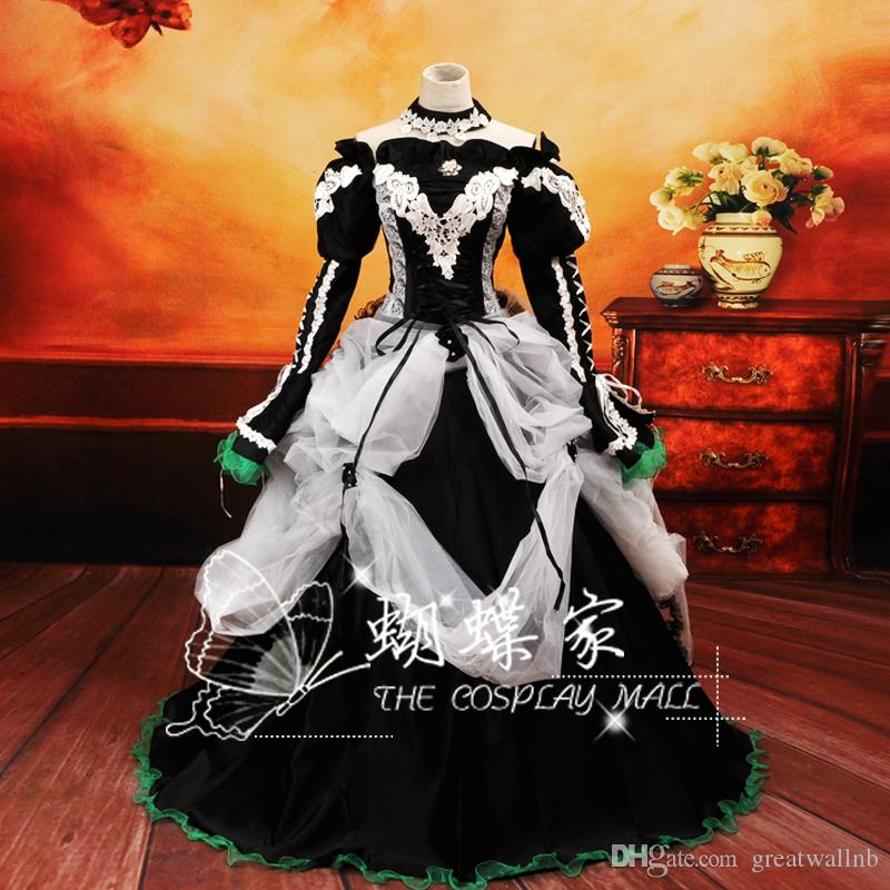 Vocaloid Cosplay Ball Gown Miku Medieval Dress Princess Renaissance ...