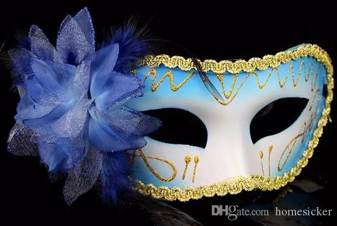 Fashion women sexy Halloween mask of Venice mask masquerade ball mask feather flowers for the Easter holiday