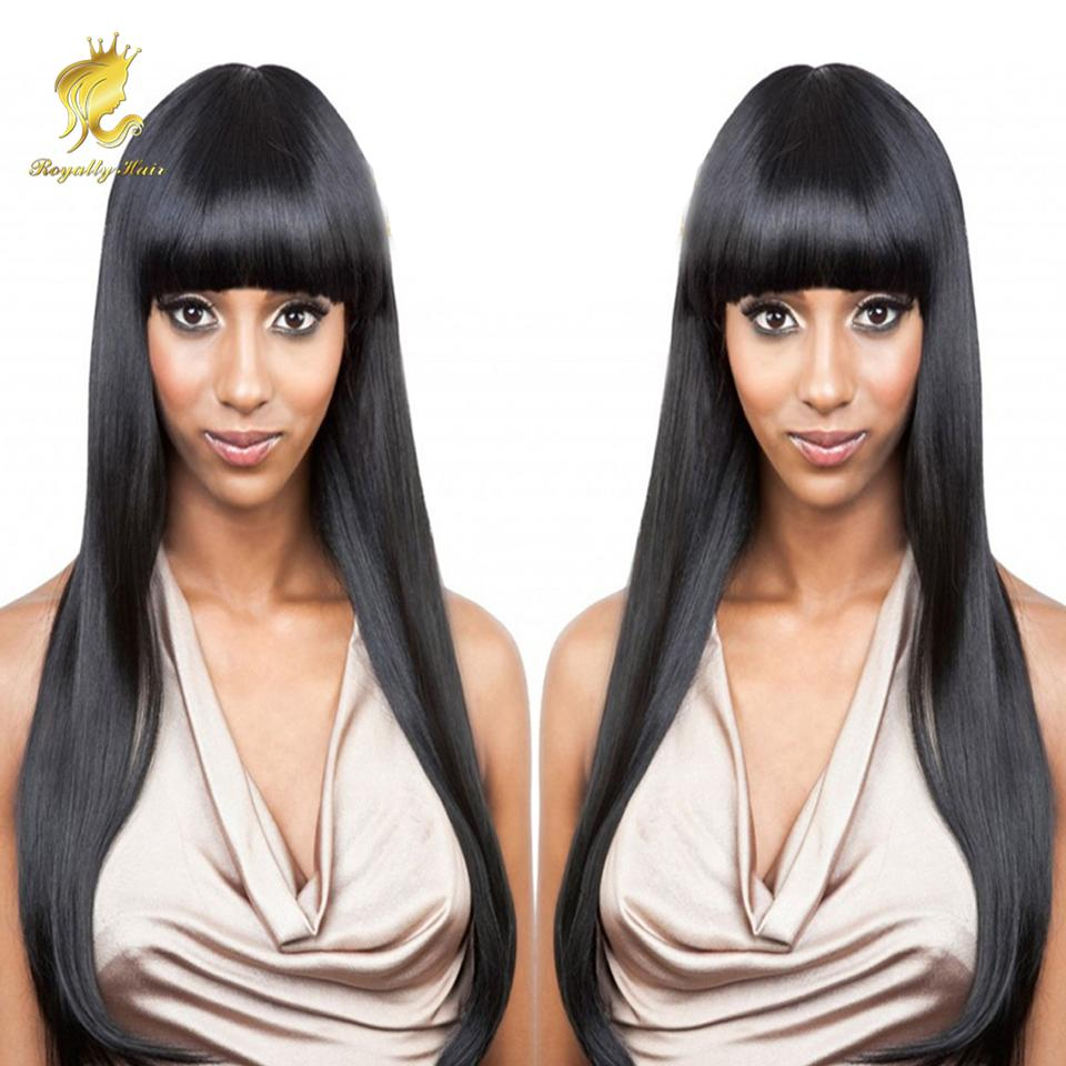 Hot Selling!!! 100% Human Hair Wig Alternative Wigs With Hair Bang Hair  Fringe Wigs For Women Synthetic Lace Wigs Natural Wigs From Royaltyhair 05f51f84bc