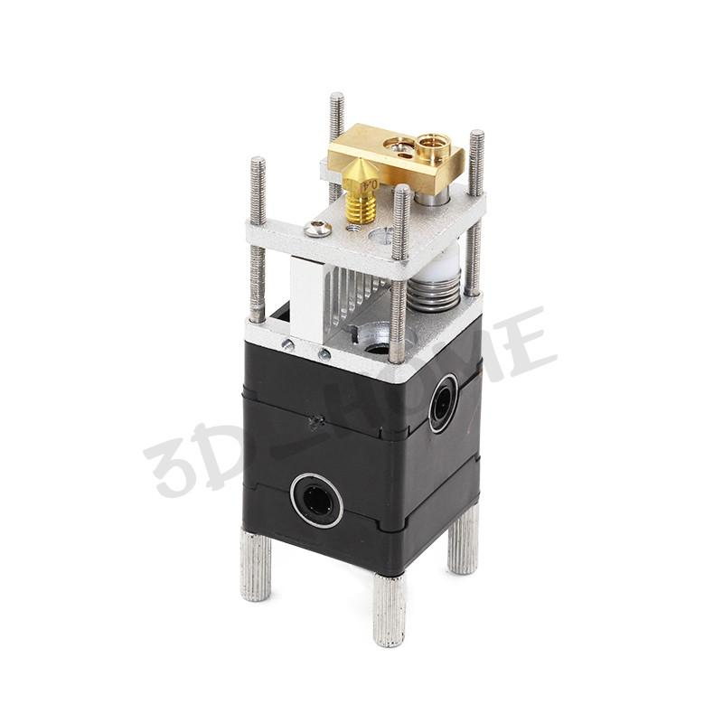 Freeshipping Ultimaker 2 dual Extruder Olsson Block Kit Nozzles 0.25/0.4/0.6/0.8mm HotEnd Dual Heads For 3.0mm Filament UM2 Ultimaker 2