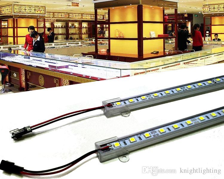 100m hohe Helligkeit starre Stange 20-22lm 5050 12v führte Streifenstab SMD 5050 3528 LED Starre Streifen-Leuchte kühle weiße Stab-Lampe unter Kabinett-Beleuchtung