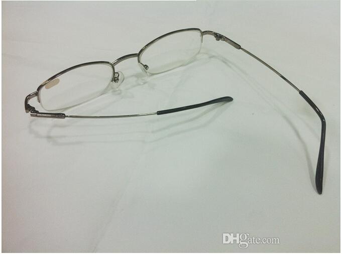 Metal Yarım Çerçeve Unisex Shortsighted Miyopi Okuma Gözlükleri Yarım Jant Alaşım Gözlüklü Gözlük 10 adet / grup