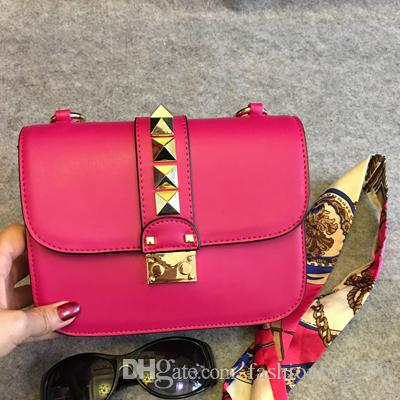 Designer Handbags High Quality Valentine Italian Genuine Leather Bag Rivet Chain  Crossbody Bags Women Shoulder Bags Free Shipp Online with  81.44 Piece on  ... 2aa803b851644