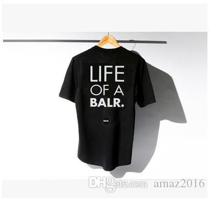 2016 hommes t-shirt manches courtes hiphop pas de temps pour les perdants t-shirt balr 100% coton 5 couleurs XXL livraison gratuite