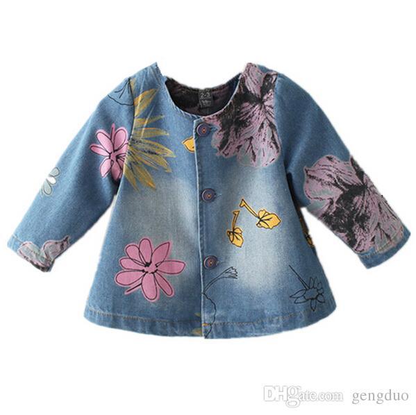 Denim Jacket For Girls Toddler Jeans Coat Spring Floral Flower Cape Mesmerizing Kids Cape Pattern
