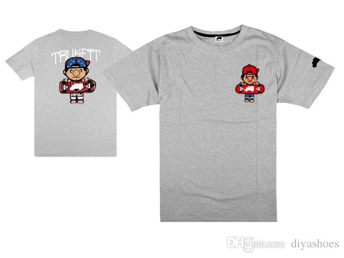 2018 europeu e americano novo hip hop t-shirt de manga curta camiseta popular camisa tee venda quente preço de fábrica trukfit camisa de manga longa