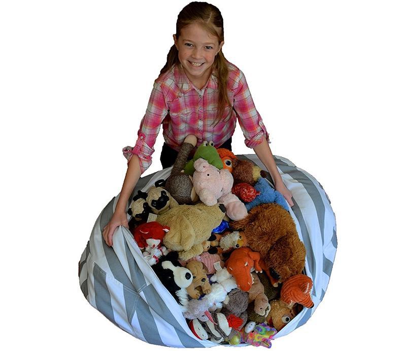 43cm Storage Bean Bags Beanbag Chair Kids Bedroom Stuffed Animal Dolls Organizer Plush Toys Buggy Bags Baby Play Mat