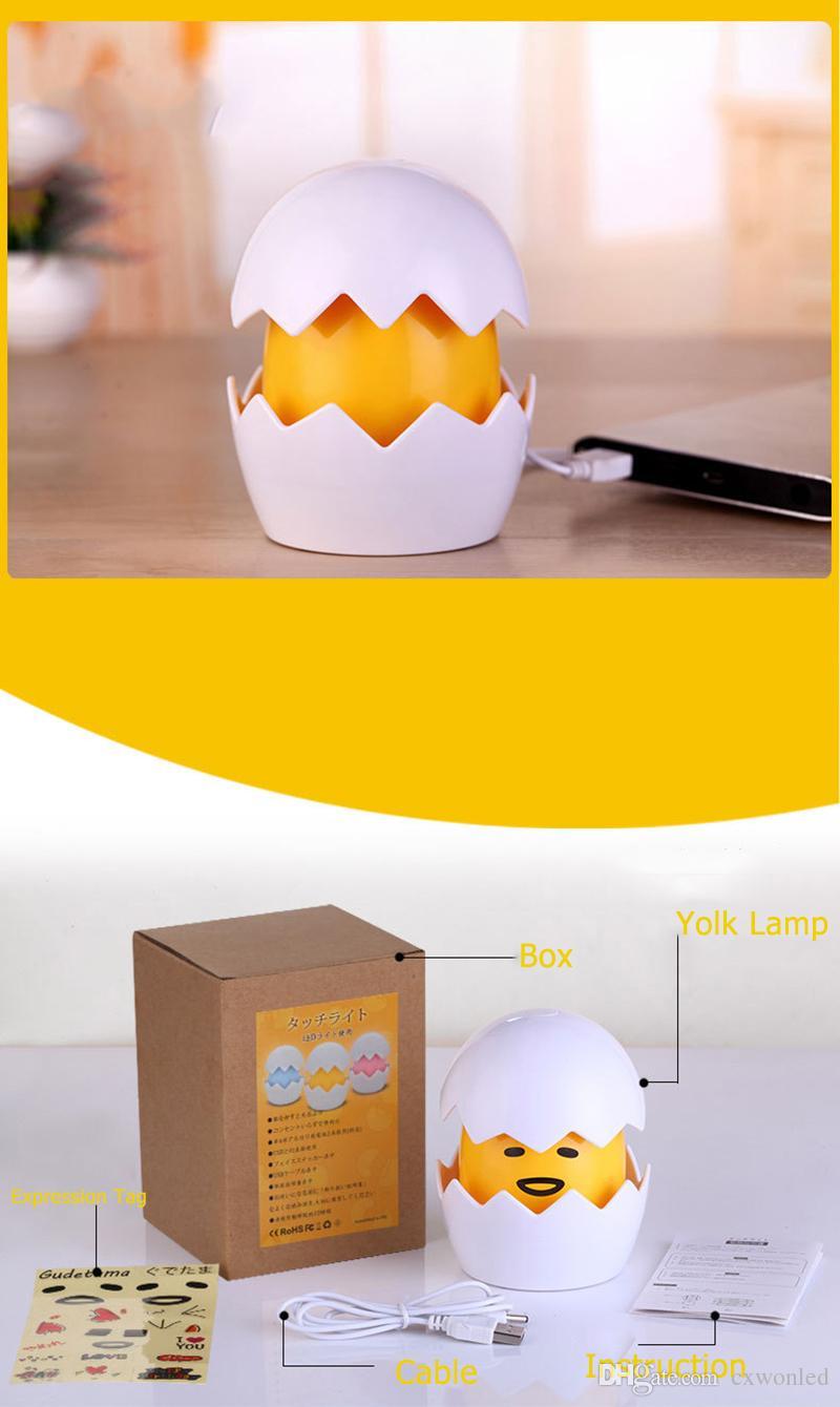 Mini led Yolk night lamp USB charge 3 AAA battery yolk lights non-toxic energy saving decoration lights pink yellow blue for birthday gifts