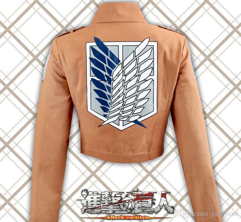 Titan Shingeki no Kyojin 정찰 군단 재킷 코트 공격 파란색과 흰색 표준 코스프레 의상