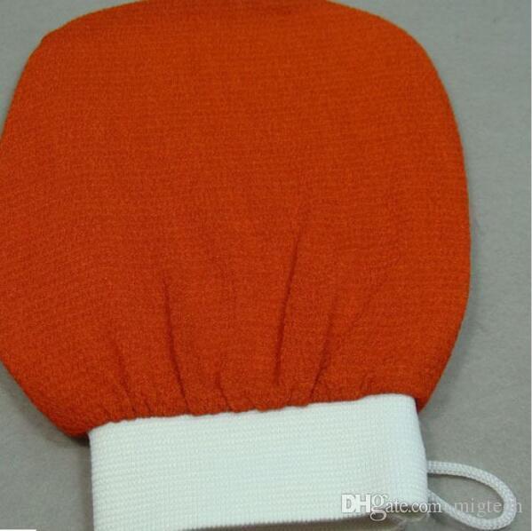 Marokko Hammam Peeling Handschuh Magie Peeling Handschuh Peeling Tan Entfernung Handschuh normal grobe Gefühl Orange kostenloser Versand