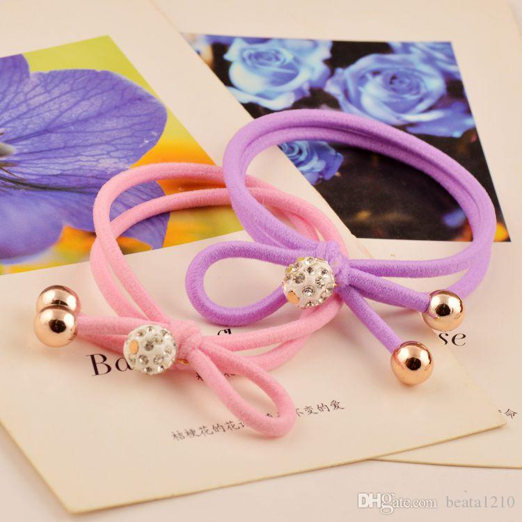 Hair Rubber Bands for Women Girls 2018 Korean Style Head Wrap Mix Colors Hair Accessories A Jewelry Stores Bow Headpieces