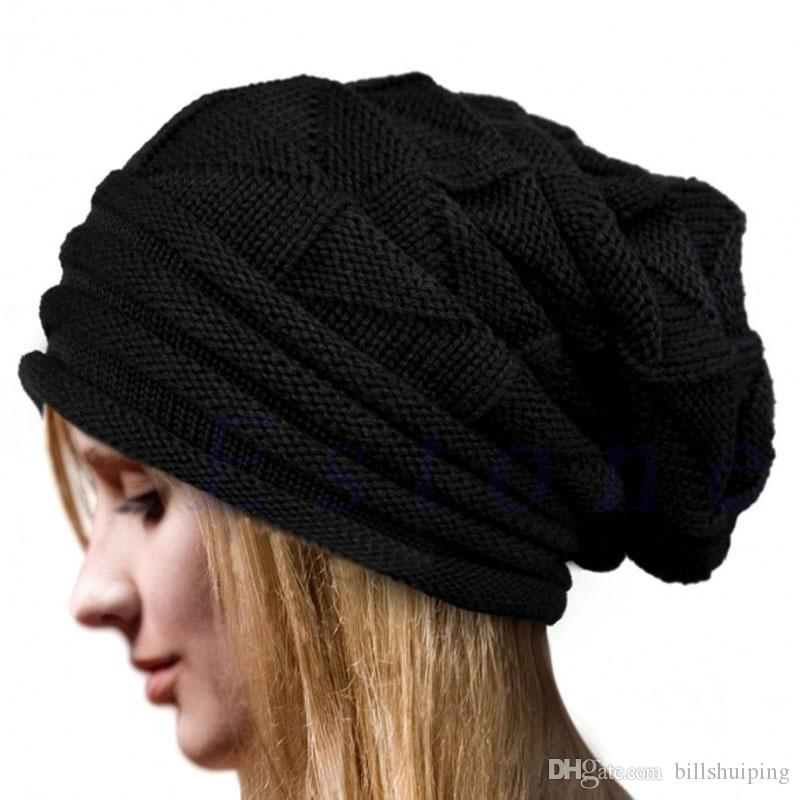 df4eba0f2cb29 New Fashion Women s Baggy Beanie Oversize Winter Warm Hat Ski Slouchy Chic  Cap Skull Free Shippingl Beanie Online with  3.28 Piece on Billshuiping s  Store ...