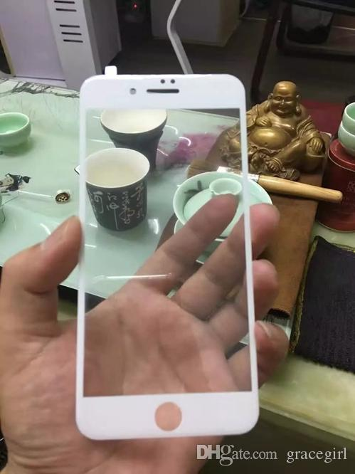 3D Curved Full Coverage Tempered Glass For Iphone 7 I7 Iphone7 Plus Rose Gold Color Screen Protector Guard Clear Film Skin Package