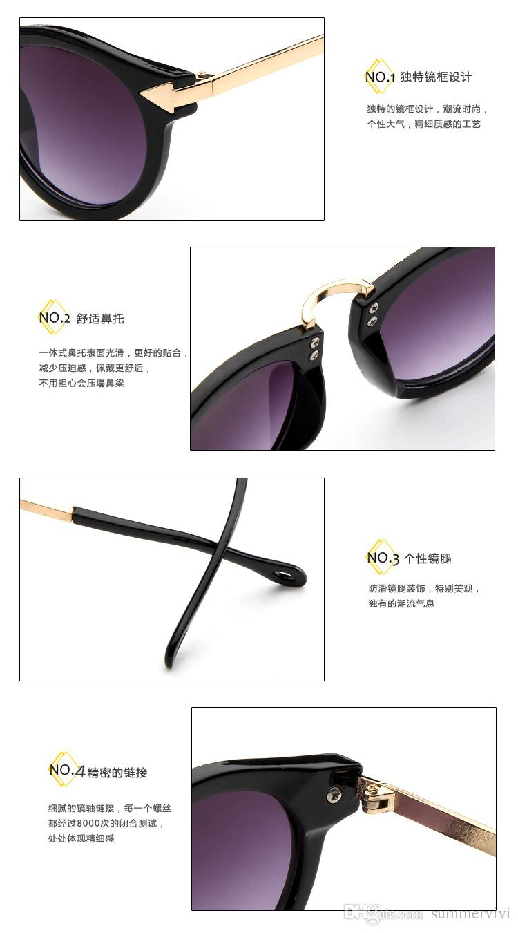Fashion Girls Boys Fashion Sunglasses Round Kids Sunglasses Children Sun Glasses Baby Vintage Eyeglasses Children Beach sunglasses A8042