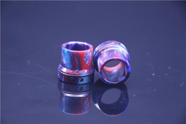 4 stili TFV8 Coilart Mage RTA Mini Buddha Roughneck resina epossidica drip tip Colorful Wide Bore Drip Tips 510 bocchino serbatoio atomizzatore