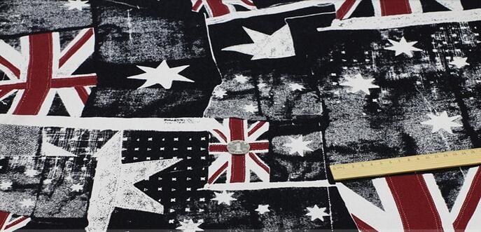 ! Wholesale 2colour British flag printing star pattern denim fabric, print satin fabric,tweed fabrics floral cotton fabric B199