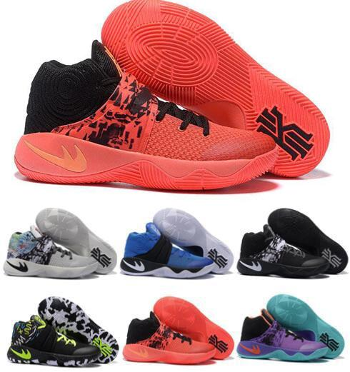 quality design 453f5 c0144 2016 New Kyrie Irving 2 BHM Christmas Men Basketball Shoes Kyrie 2 Bright  Crimson Tie Dye All Star Sports Sneakers High Quality Shoes Running Shoes  ...