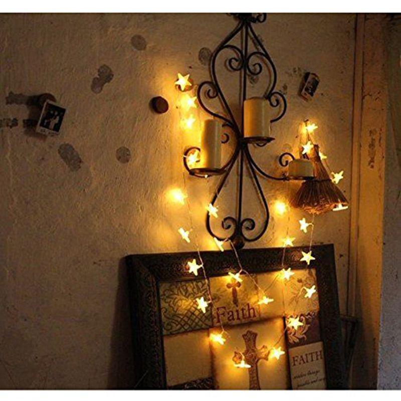 2017 New10M 100Led Lights ChristmasTree Bulbs White Led Star String Fairy Light 110v/220v Xmas Party Wedding Garden Decorations