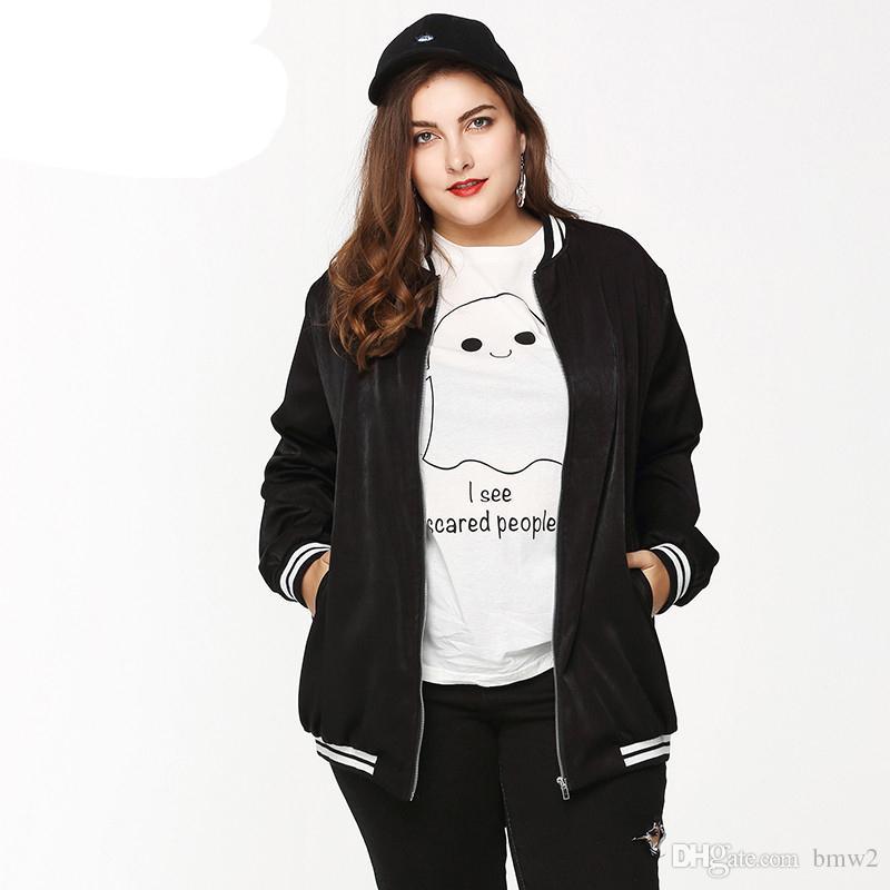 kommt an heiß-verkaufender Fachmann gutes Angebot Plus Size Bomber Jacke Zip Up Baseball Jacke Mäntel gesteppte Outdoor  Hoodies Big Size Oversize Outfits Girls
