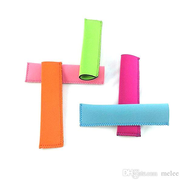 Hot Sale 2016 New Neoprene Popsicle Holders Ice Cream Tubs Party Drink Holders 15.5*4cm Ice Sleeves Freezer Ice Covers choose free