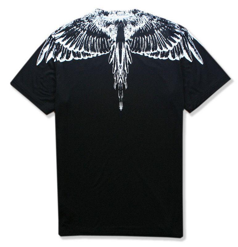 ss nouveau Marcelo Burlon Hommes Milan Ailes De Plumes T Shirt Hommes Femmes Couple Défilé De Mode RODEO MAGAZINE T Shirts Goros camisetas