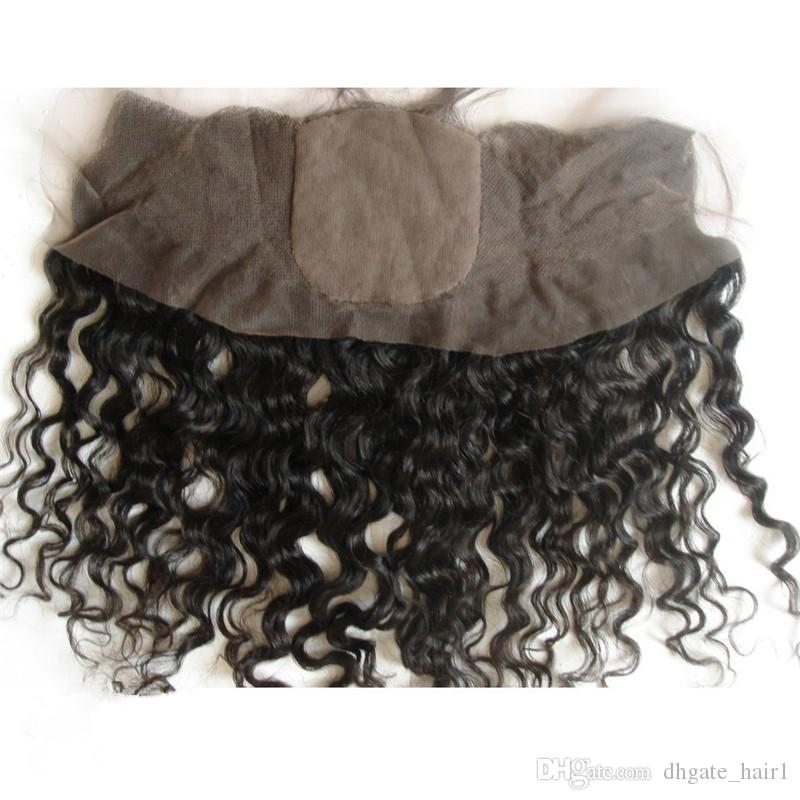 Deep Curly Virgin Chinese Hair 4x4 Silk Top Lace Frontal Closure Free Middle 3 Way Part Silk Base Lace Frontal 13x4 Bleached Knots