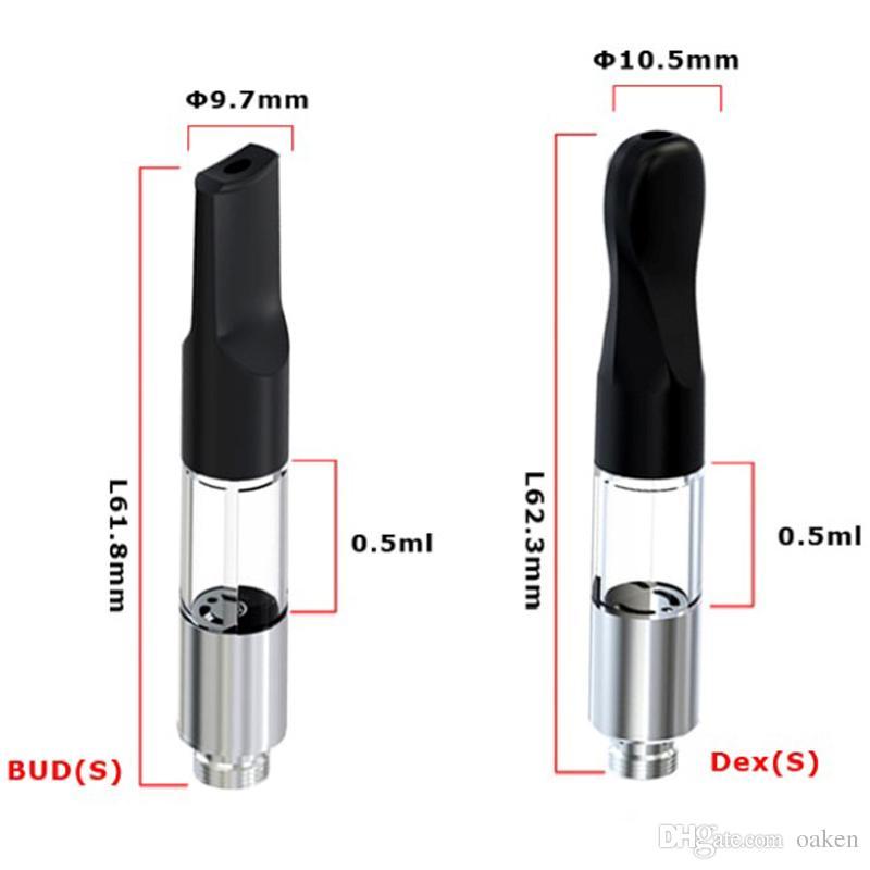 2017 Best product BUD S 0.5ml atomizer vape pen 510 disposable Mini cartomizers vape Tank atomizer for green oil cartridges 8809